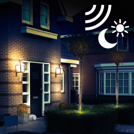 Outdoor lighting with dusk to dawn sensor