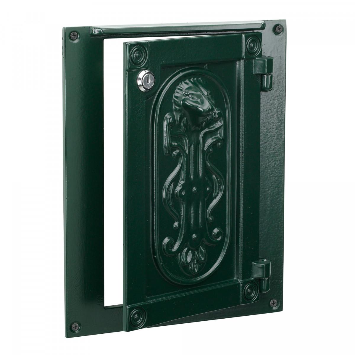 Wall plate door post box