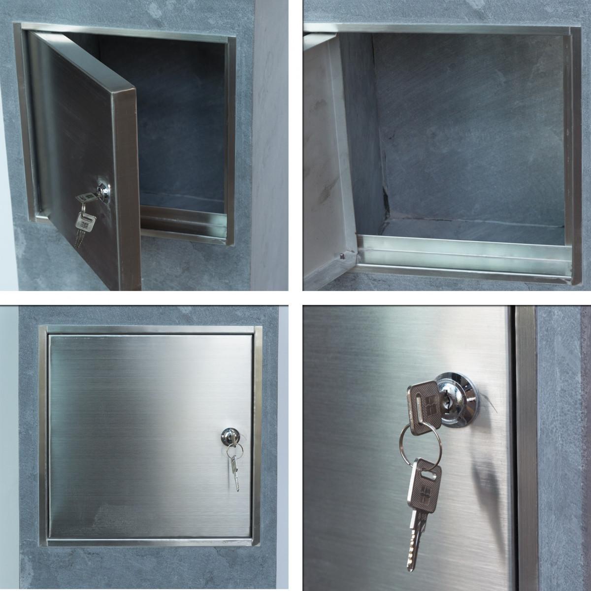 Letterbox door built in